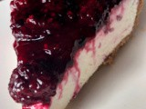 No bake blackberry cheesecake
