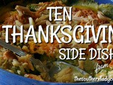 Ten thanksgiving side dishes