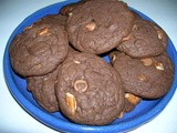 Triple chocolate fudge pecan cookies