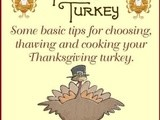 Turkey basics – Some Tips on Choosing, Thawing and Cooking your Thanksgiving Turkey