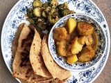 Aloo Kela Ki Sabzi: Potato Raw Banana Curry