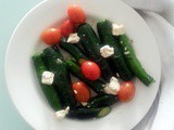 Baby Zucchini with Cherry Tomatoes and Feta Cheese