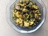 Baingan Mooli Patta Sabzi: Eggplant Radish Leaves Curry