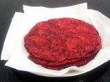 Beetroot Paratha: Red Flatbread