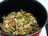 Cabbage and Peanuts Stir Fry