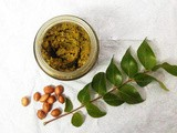 Curry Leaves and Peanut Chutney