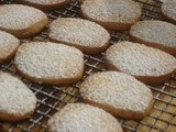 Ginger Shortbread Cookies - with crystallized ginger