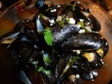 Steamed Mussels with a White Wine Sauce
