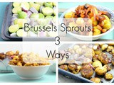 Brussels Sprouts 3 Ways: Pan-fried Brussels Sprouts with Tofu Bacon | Vegan, gf