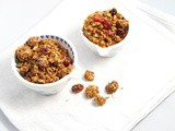 Cranberry Oat Homemade Granola | Vegan, Sugar-free