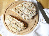 No-Knead Bread with Sweet Potato and Pine Nuts | Vegan