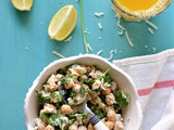 Chickpeas and feta cheese salad | Protein packed refreshing salad