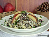 Festive cabbage quinoa apple salad