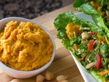 Curry Carrot Chickpea Hummus Recipe [secret ingredient]