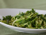 Spiralized Zucchini Pasta with Creamy Avocado Sauce [video]