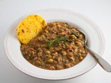 "Vegan ""Hoppin' John"" Recipe [Black-Eyed Peas, Rice and Greens Stew] Instant Pot & Standard 