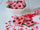 Chocolate Cherry Valentines Day Bark