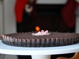 Chocolate Peppermint Truffle Tart with Chocolate Crumb Crust