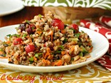 Cranberry Walnut Wild Rice Salad & Hen House Linens Giveaway