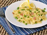 Farfalle with Peas, Pancetta, and Lemon
