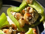 Grilled Bell Peppers Stuffed with Mozzarella