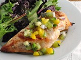 Grilled Chicken with Kiwi Salsa