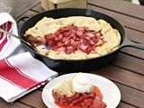 Grilled Skillet Strawberry Pie