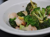 Shrimp & Broccoli Sauteed in Wine & Garlic