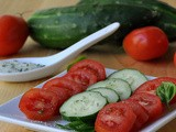 Tomatoes and Cucumbers with Basil Salt