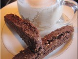 Black Cherry Brownie Biscotti