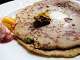 Aloo matar paratha (Potatoes and peas paratha)