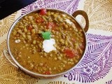 Dhaba style dal (Smoky whole green lentils)
