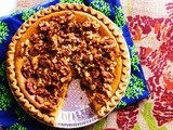 Egg-less Pumpkin Pie with Walnut Topping