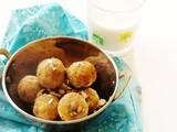 Mung dal and badam laddu (Split yellow lentils and almond balls)