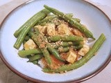 Coming out of the Bubble:  Green Beans and Tofu in Peanut Tamarind Sauce