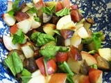 Dinner on the Fly: White Peach and Beet Salad