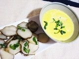 Sustainable Spring:  Sunchoke Slivers with Green Onions and Hollandaise Sauce
