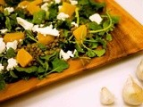 Roasted Yellow Beet & Black Lentil Salad