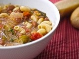 Soup time….Minestrone or in kid-speak pasta soup