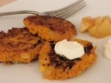 Sweet potato latkes with cinnamon pear sauce