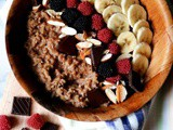 Creamy Brown Rice Porridge with Dark Chocolate