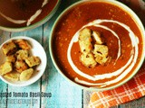 Roasted Tomato-Basil Soup with Garlic Croutons