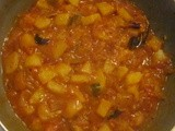Potato n Yellow Cucumber Mix Curry