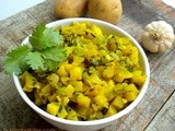 Aloo Methi Subzi | Potato Fenugreek Leaves Curry