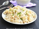 Macaroni Pasta And Egg Salad Recipe | Healthy salad Recipes