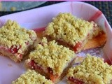 Plums Oatmeal Crumble Bars Recipe | Eggless Dessert Recipes