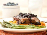 Pork Chops w/ Blueberry-Chipotle Sauce