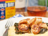 Seared Scallops with Old Bay Grits