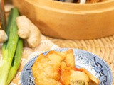 Spicy Ginger-Scallion Crab Wontons