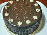 Chocolate Brownie Cake with Cookie Dough Filling